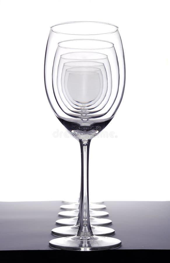 tomma wineglasses arkivbilder