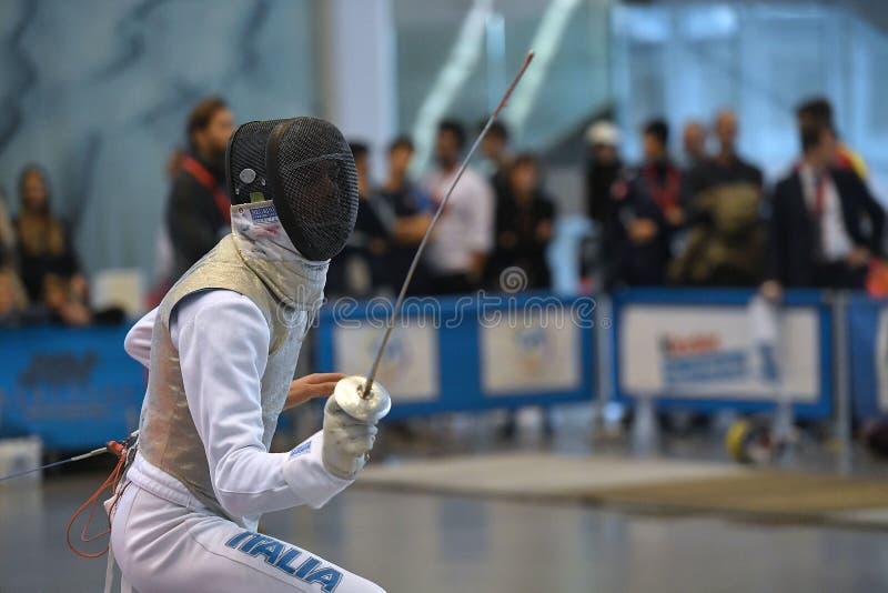 Sword FIE Fencing Grand Prix 2029 - Men royalty free stock photo
