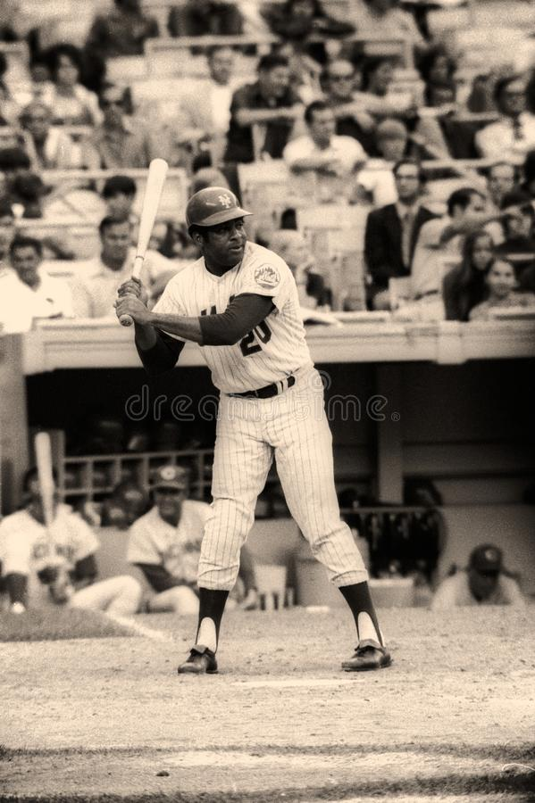 Tommy Agee New York Mets στοκ εικόνα