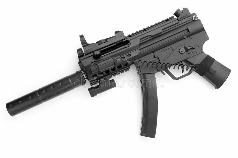 Tommy gun. Submachine gun on a white background royalty free stock photos