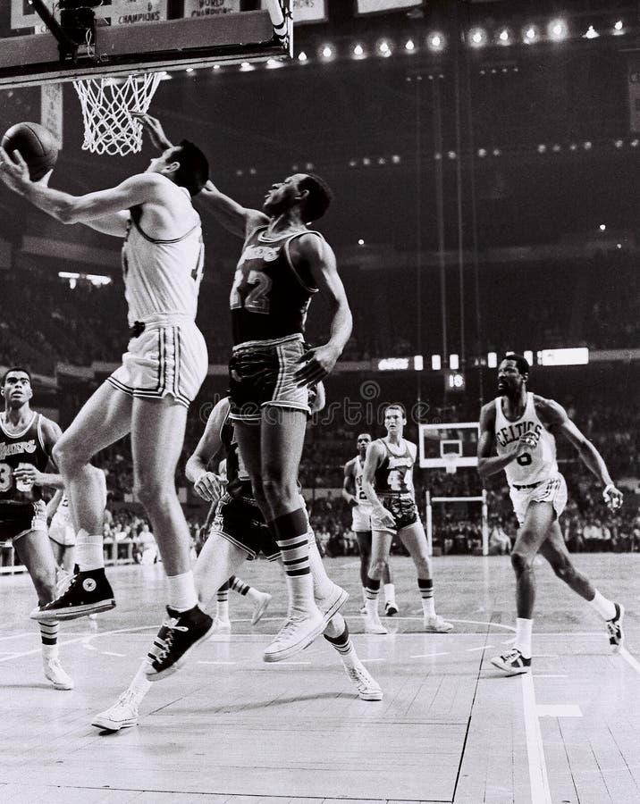 Tommy Heinsohn y Celtics Greats de Bill Russell imagen de archivo libre de regalías