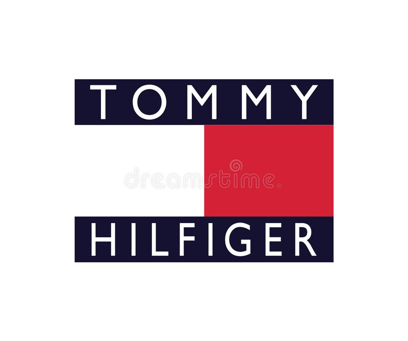 Tommy Hilfinger Vintage Streetwear Logo lizenzfreie abbildung