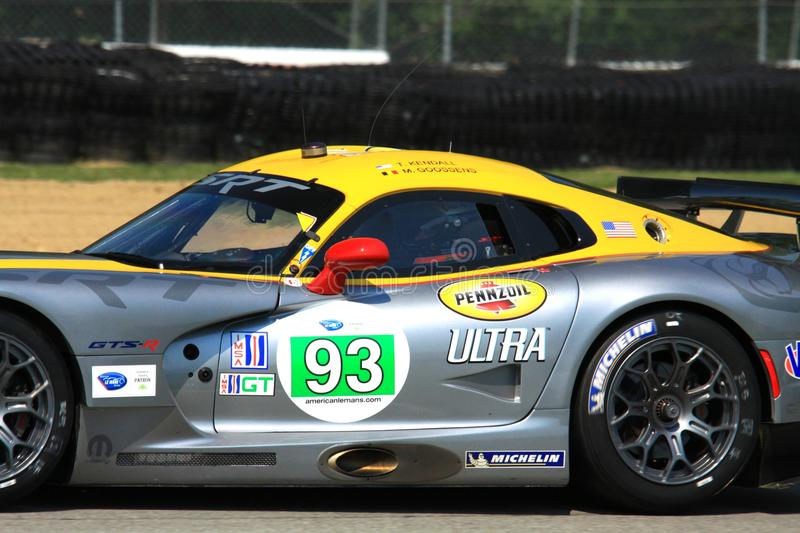 Tommy Kendall. Races the SRT Viper GTE-R at the professional motorsports racing event, International Motor Sports Association, Sports car club of America, WC stock photos