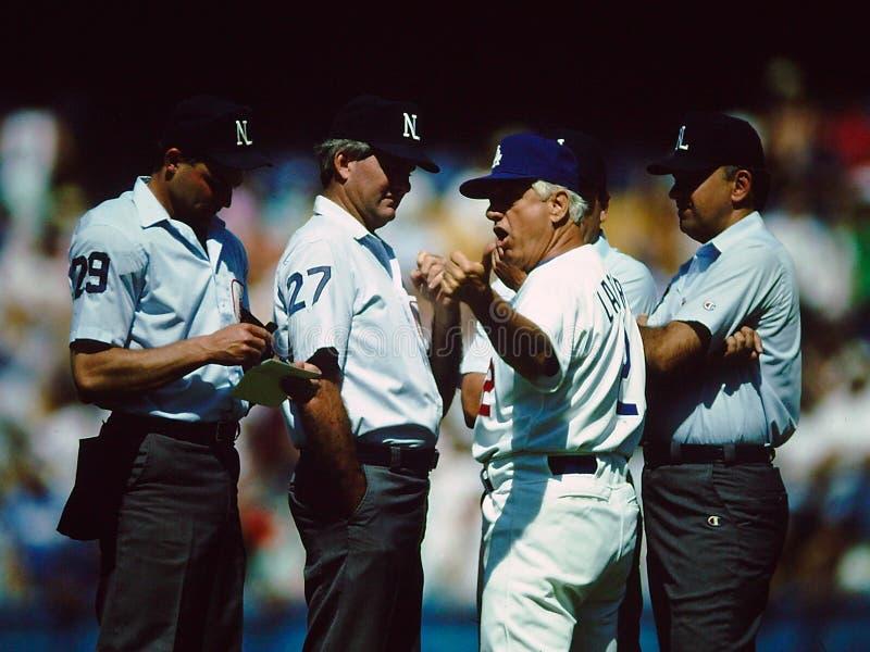 Tommy Lasorda Los Angeles Dodgers imagens de stock