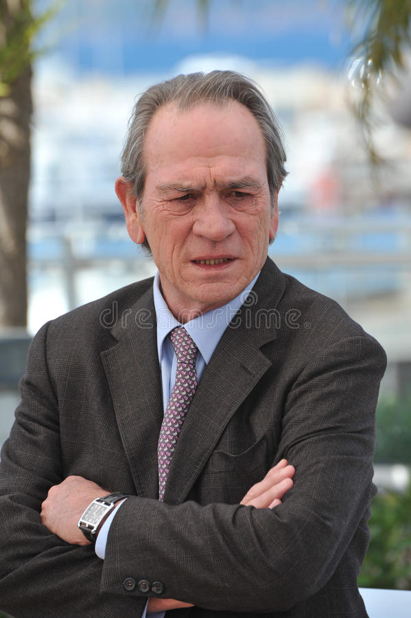 Tommy Lee Jones. CANNES, FRANCE - MAY 18, 2014: Tommy Lee Jones at the photocall for his new movie The Homesman at the 67th Festival de Cannes stock photos