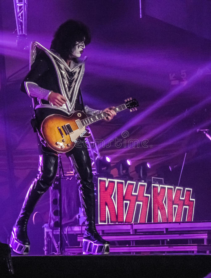 Tommy Thayer Lead Guitarist of Kiss royalty free stock photography