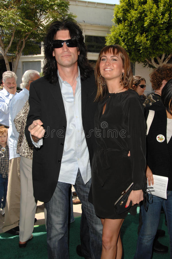 Tommy Thayer,Summer Mann. Tommy Thayer at the Los Angeles Premiere of 'A Plumm Summer'. Mann Bruin, Westwood, CA. 04-20-08 stock images