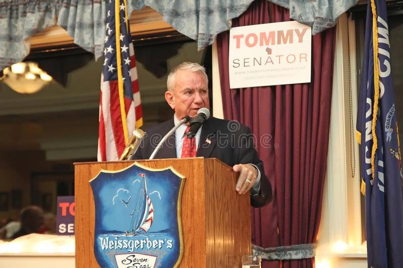 Tommy Thompson GOP Candidate for WI US Senate. Seven Seas Restaurant, Hartland, WI, USA, 9/18/2012. Tommy Thompson, GOP US Senate Candidate, is a guest speaker stock photo
