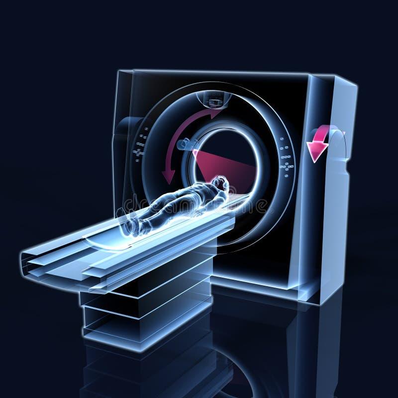 Tomographie d'ordinateur de CT, médicalement illustration 3D illustration stock