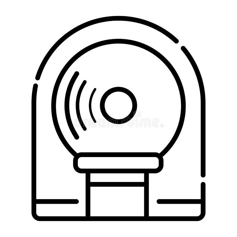 Tomographie-Ikonenvektor vektor abbildung