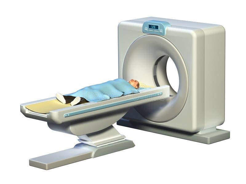 Tomography axial computarizado ilustração do vetor