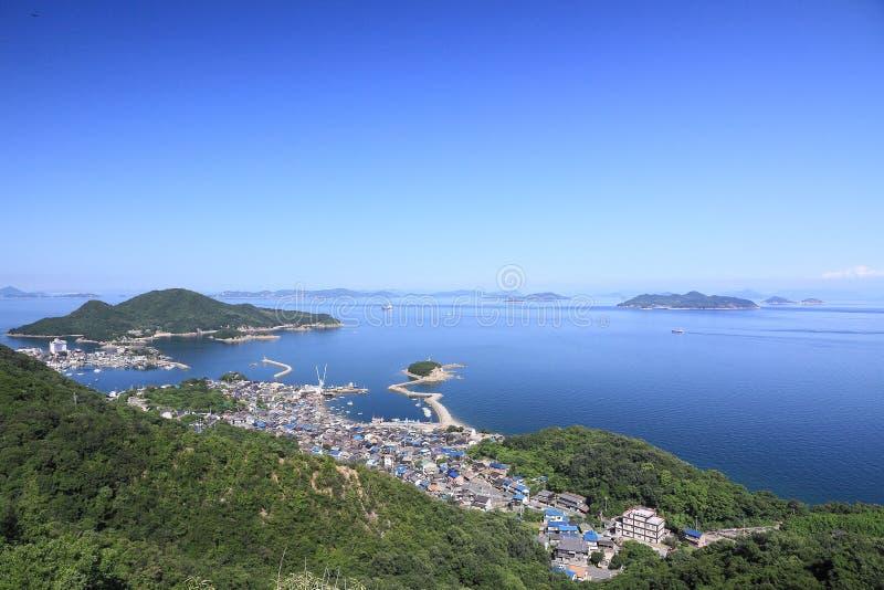 Tomonoura口岸看法  免版税图库摄影