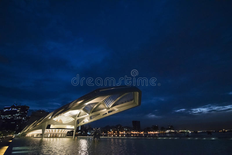 Tomorrow Museum. Rio de Janeiro, Brasil - March 02, 2016: Museum tomorrow that is part of the revitalization of the port area of the city and was designed by royalty free stock photography