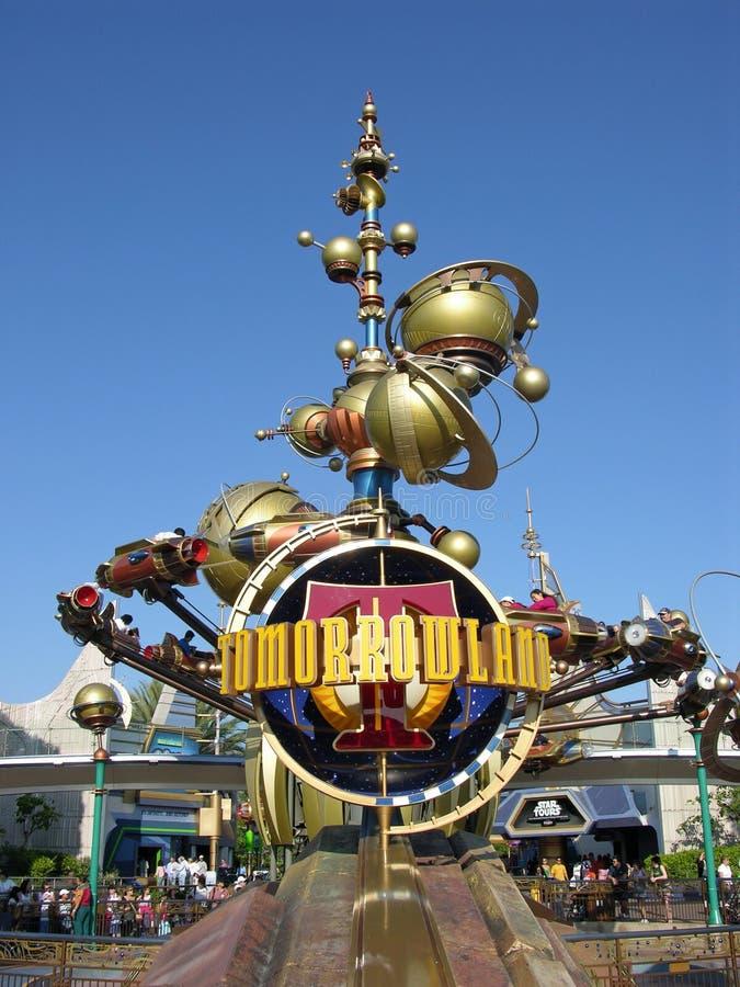 Tomorrowland de Disneylâandia imagem de stock