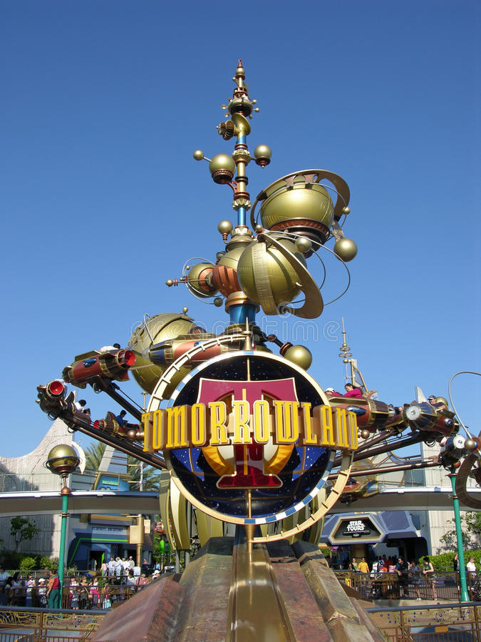 Tomorrowland de Disneylandya imagen de archivo