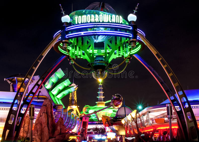 Tomorrowland Disney värld royaltyfria foton