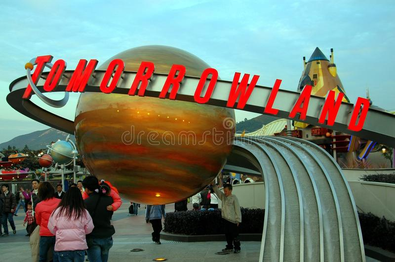 tomorrowland disneyland Hong Kong стоковые фото