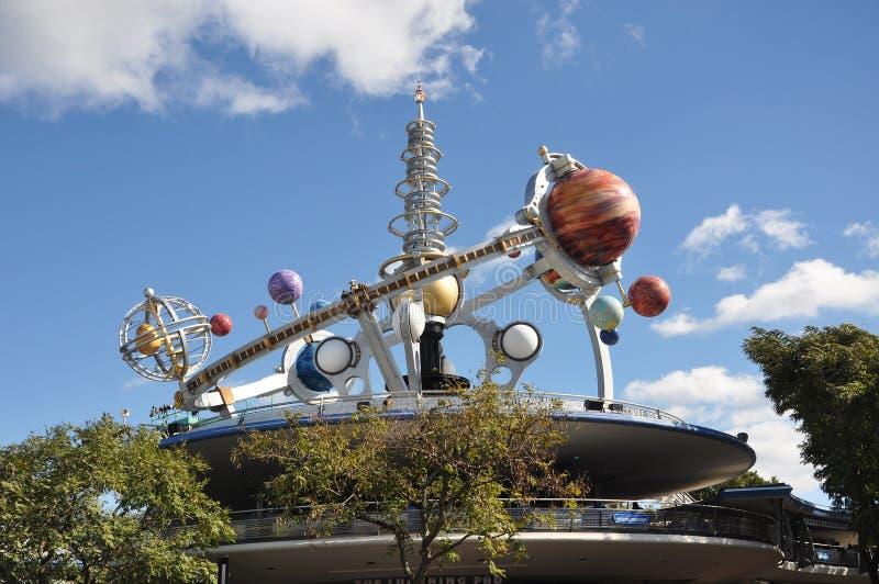 Tomorrowland en el reino mágico, Disney Orlando foto de archivo