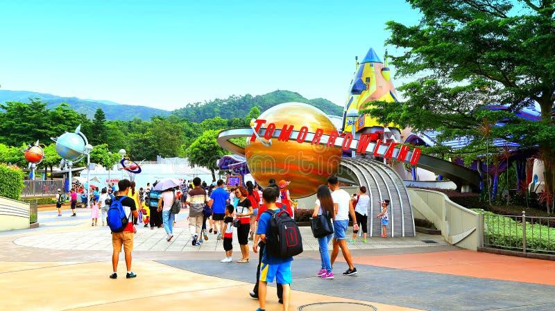 Tomorrowland på disneyland Hong Kong arkivfoto
