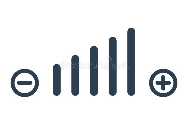 Tomowa dostosowanie symbolu sieci ikona Volum ikony wektor ilustracji