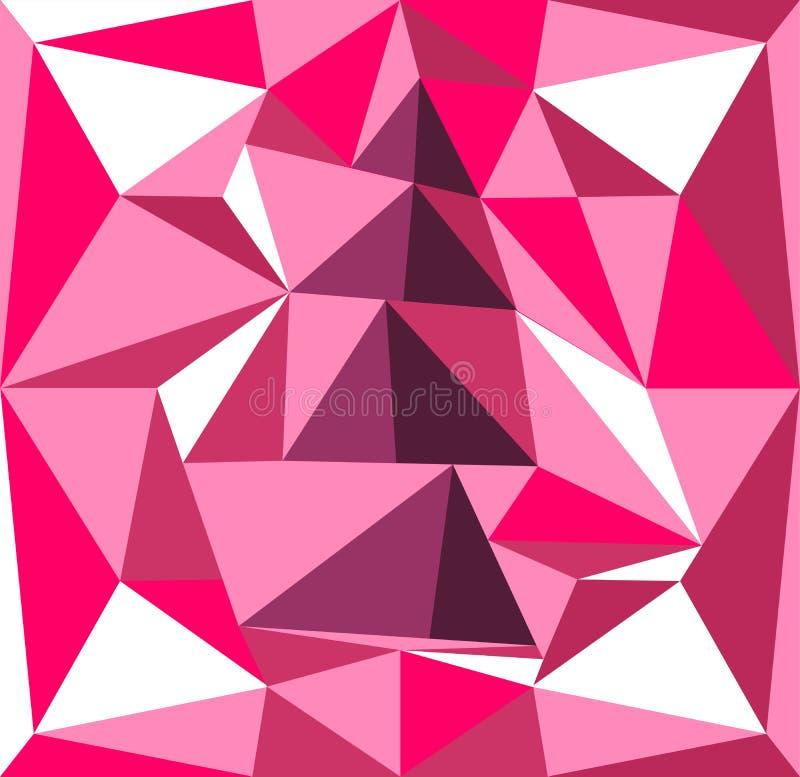Tomowa drzewna ilustracja graniastosłupy różowe tła purpurowy royalty ilustracja