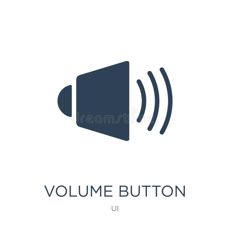 tomowa guzik ikona w modnym projekta stylu tomowa guzik ikona odizolowywająca na białym tle tomowego guzika wektorowa ikona prost royalty ilustracja