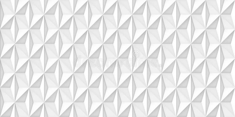 Tomowa realistyczna wektoru światła tekstura, geometryczne bezszwowe płytki deseniuje, projektuje, białego tło dla ciebie projekt ilustracji