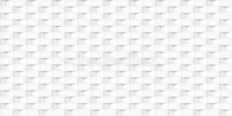 Tomowi realistyczni wektorowi sześciany tekstura, lekkie geometryczne bezszwowe płytki deseniują, projektują, białego tło dla was royalty ilustracja