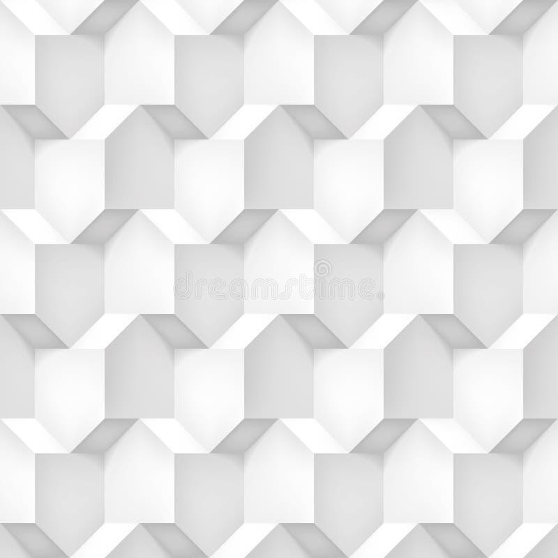Tomowi realistyczni wektorowi sześciany tekstura, lekki geometryczny wzór, projektują białego tło dla was projekty ilustracji