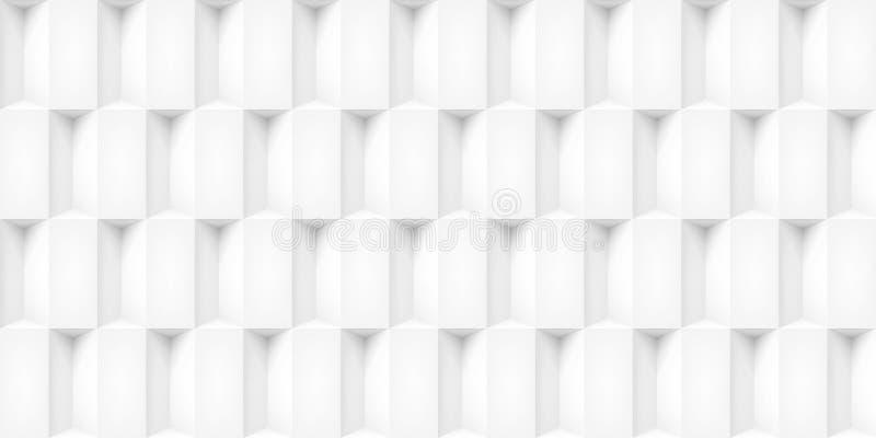 Tomowi realistyczni wektorowi sześciany tekstura, lekkie geometryczne bezszwowe płytki deseniują, projektują, białego tło dla was ilustracja wektor