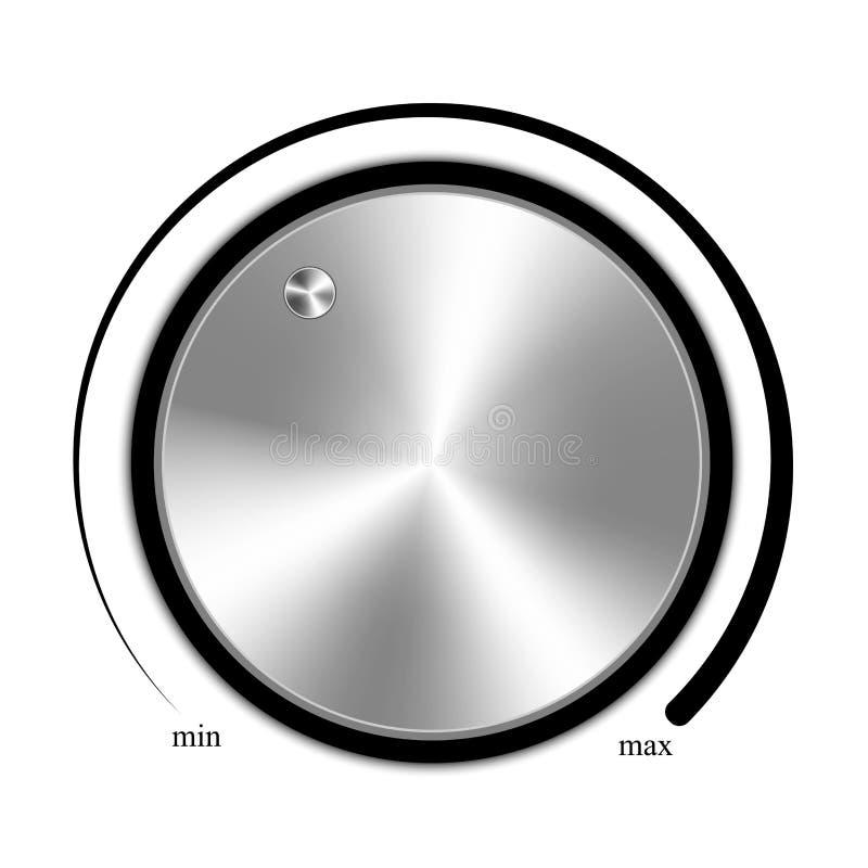 Tomowy guzik, muzyczna gałeczka z metal teksturą royalty ilustracja