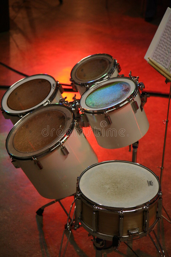Toms da percussão foto de stock