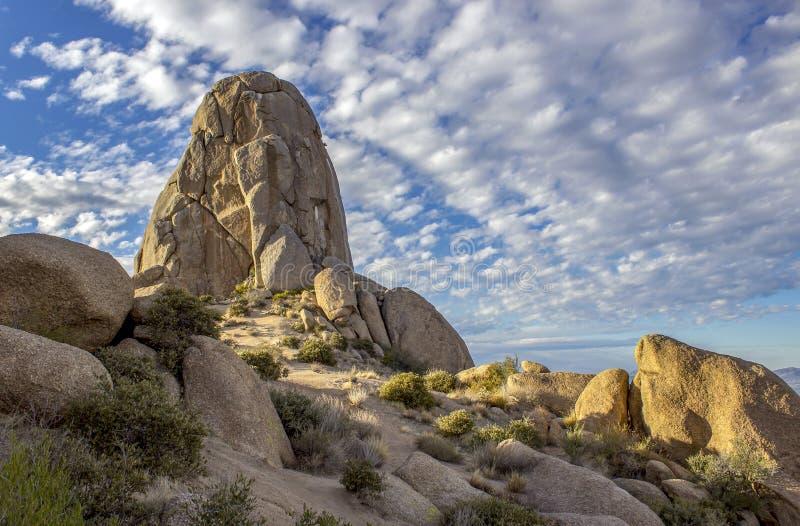 Toms-Daumen-Felsformation in Nord-Scottsdale Arizona stockbild