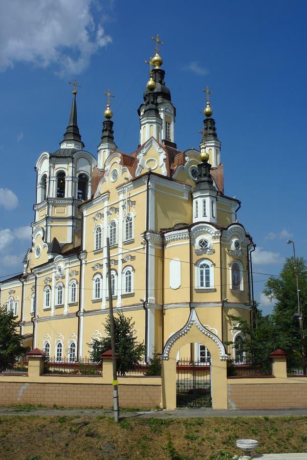Tomsk, église de Voskresenskaya photographie stock