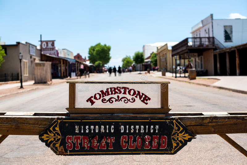 Tomstonestraat stock afbeelding