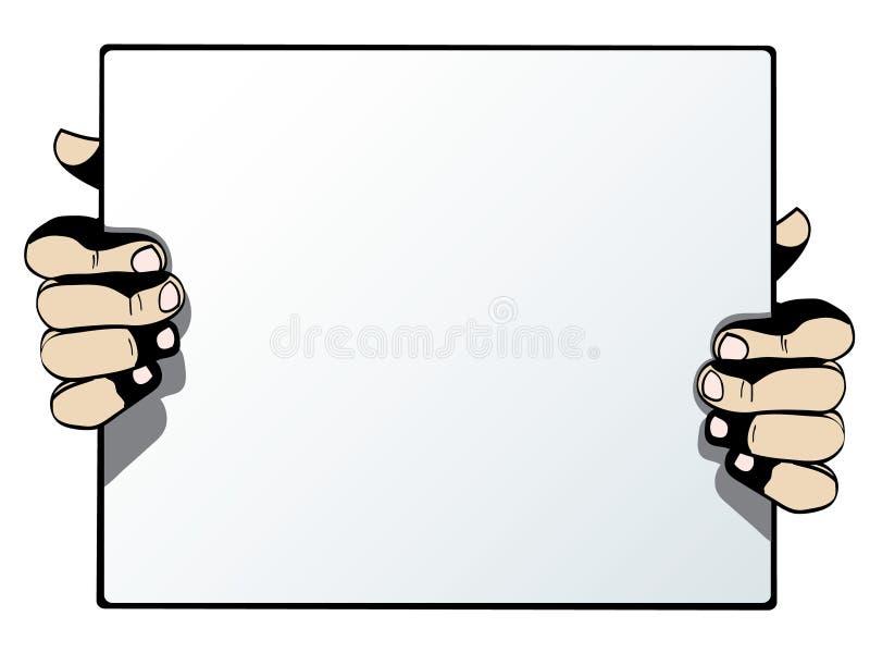 Tomt advertizingkort som isoleras på vitbac stock illustrationer