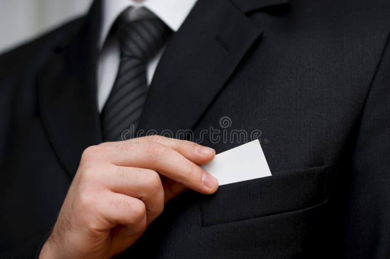 Tom businesscard royaltyfri bild