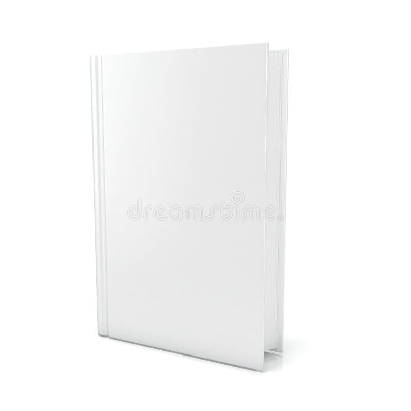 Tomt bokomslag över vit bakgrund 3d framför royaltyfri illustrationer