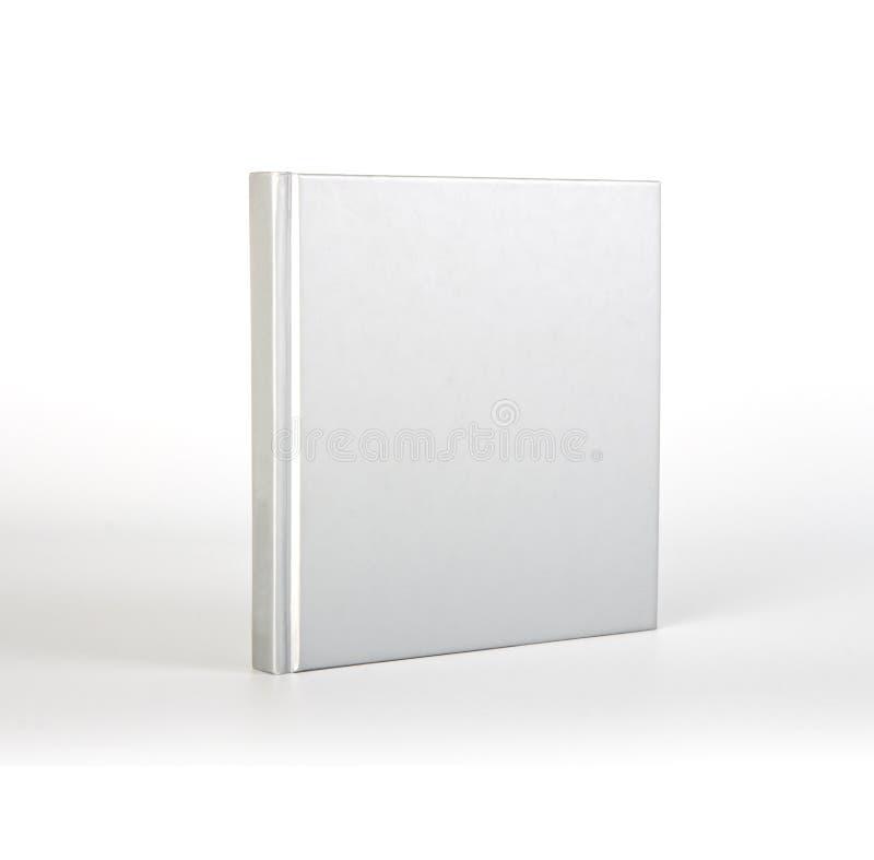 Tomt bokomslag över vit bakgrund med skugga royaltyfri bild