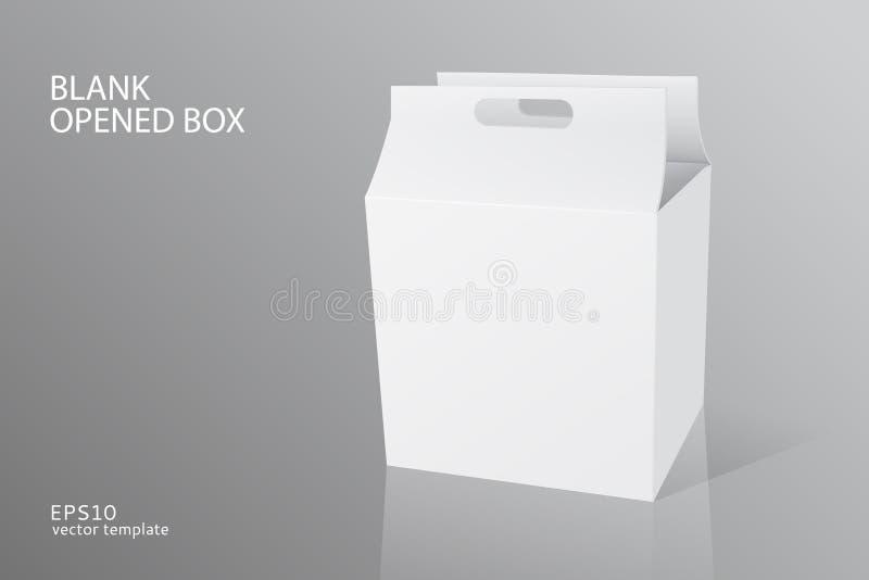 Tomt emballage öppnad ask stock illustrationer