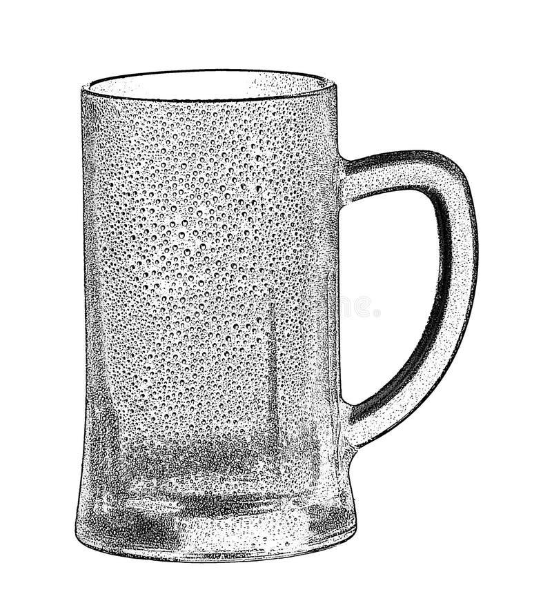 tomt exponeringsglas för öl royaltyfri fotografi