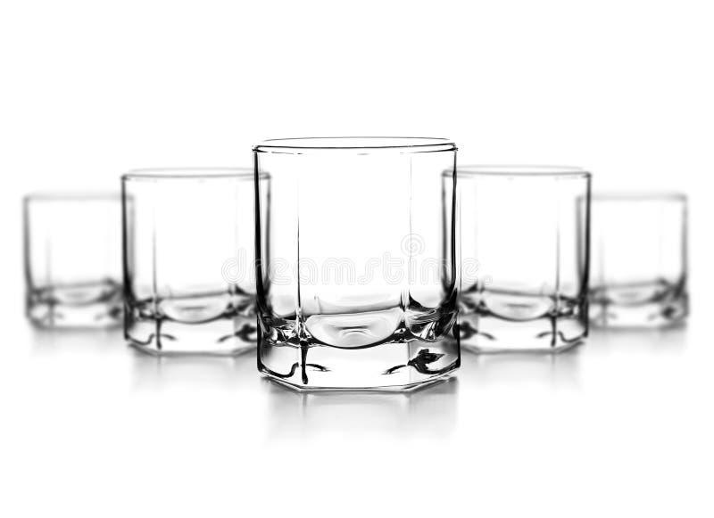 Tomt exponeringsglas för whiskey arkivfoton