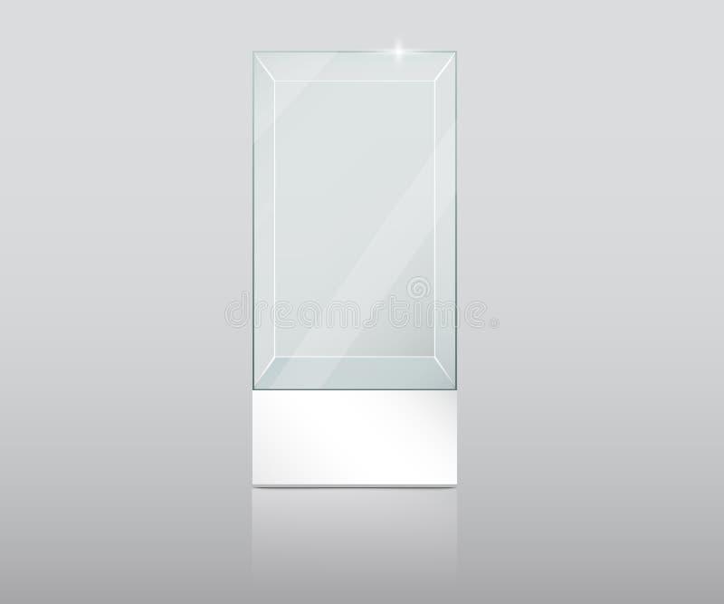 tomt exponeringsglas ställer ut vektor illustrationer