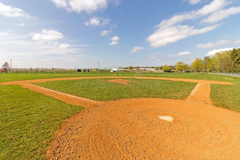 tomt fält för baseball royaltyfria foton
