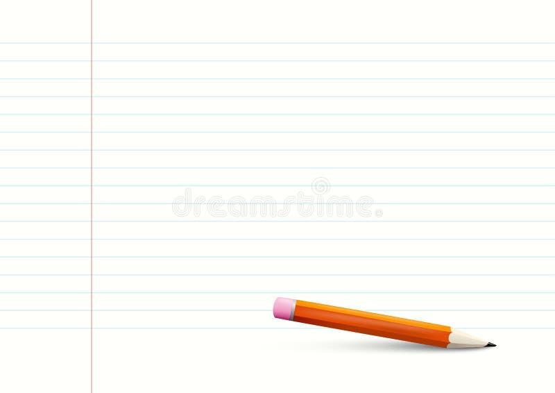 Tomt fodrat format för anteckningsbokpapper A4 stock illustrationer