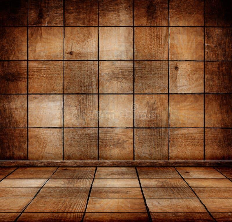 Tomt gammalt trärum arkivbild