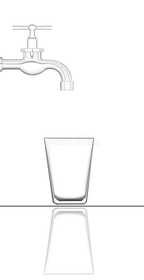 tomt glass kopplingsvatten royaltyfri illustrationer