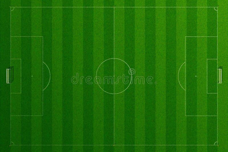 Tomt gräs för fotbollfält vektor illustrationer