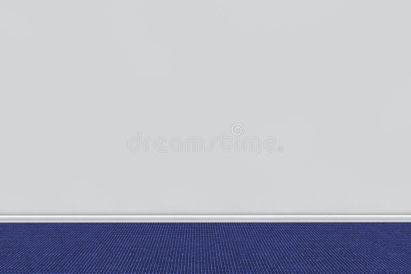 Tomt grått rums vägg med matta royaltyfri illustrationer