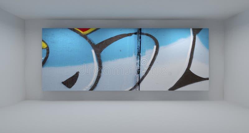 tomt grafittiavstånd för konst stock illustrationer